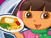 Click to Play Dora Fish and Chips