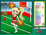 Click to Play Pom Pom Cheerleader Coloring