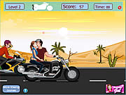 Click to Play Risky Motorcycle Kissing